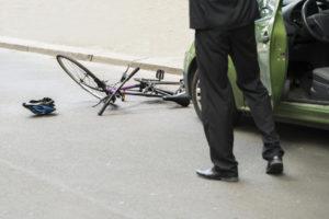 Pushbike rider knocked from bike