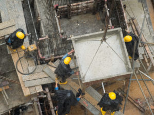 Work Injury Concreter Wet Conditions