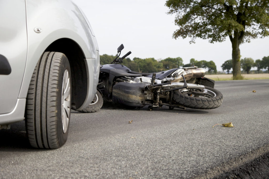 Motor vehicle accident motorbike