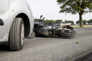Motor vehicle accident motorbike